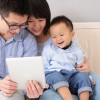 asian family w ipad
