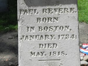 Paul Revere's Tombstone